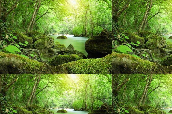 Tapeta Pixerstick Řeka v lese - Témata