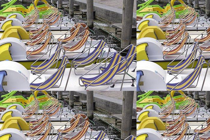 Tapeta Pixerstick Rekreačních lodí zakotvení barevný obrázek - Prázdniny