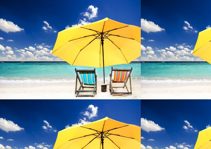 Tapeta Pixerstick Relaxace: čas v Karibiku - Voda