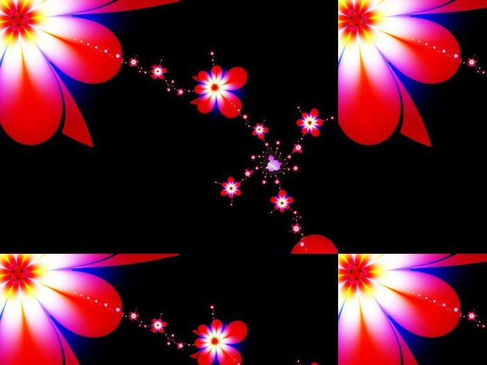 Tapeta Pixerstick Řetěz květin - Květiny