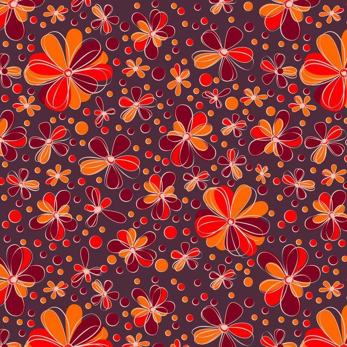 Vinylová Tapeta Retro bezešvé květiny - Pozadí