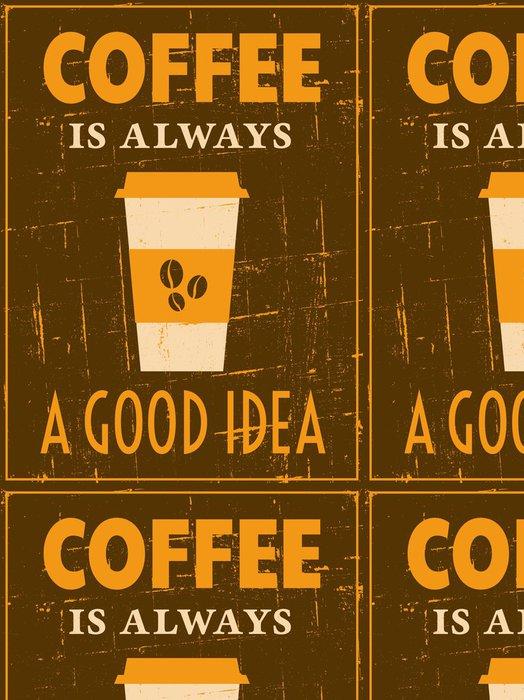 Vinylová Tapeta Retro Coffee Plakát - Do kavárny