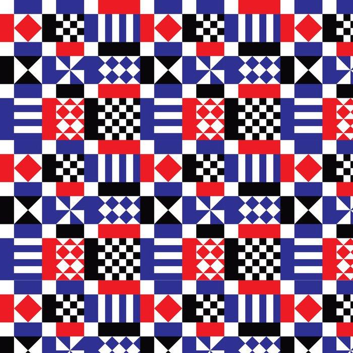 Tapeta Pixerstick Retro Geometrické tvary na pozadí - Jiné pocity