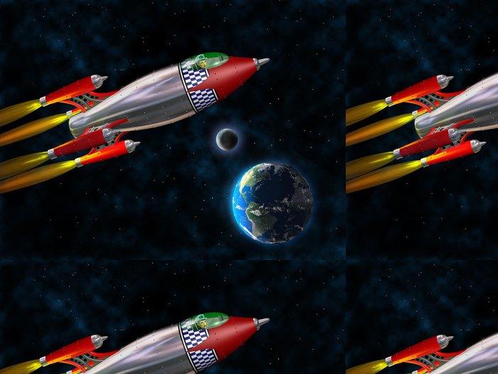 Vinylová Tapeta Retro raketa ve vesmíru - Témata
