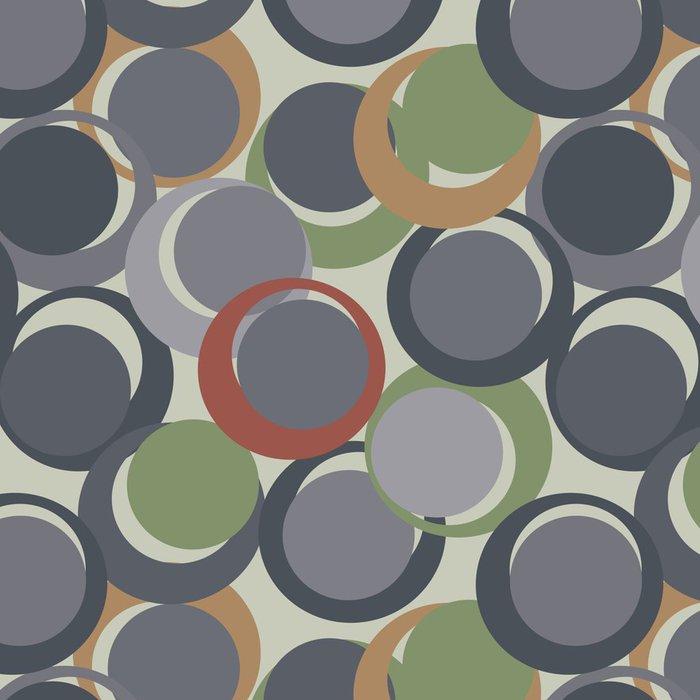 Tapeta Pixerstick Retro šedé bezproblémové kruh pozadí - Umění a tvorba