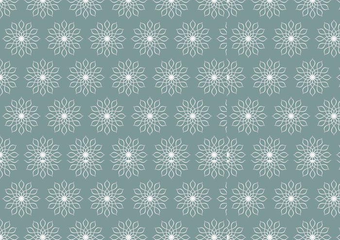 Tapeta Pixerstick Retro Silver Květinový vzor na pastelové barvy pozadí - Pozadí