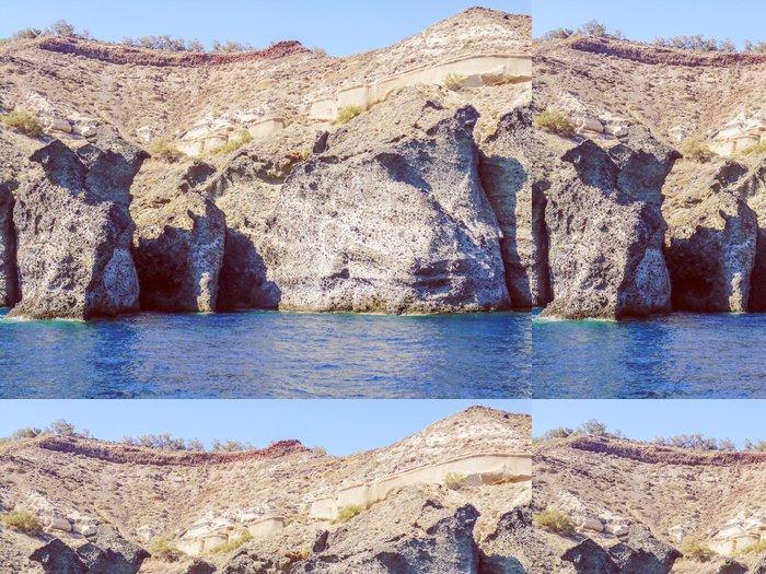 Tapeta Pixerstick Retro vypadají Santorini v Řecku - Umění a tvorba
