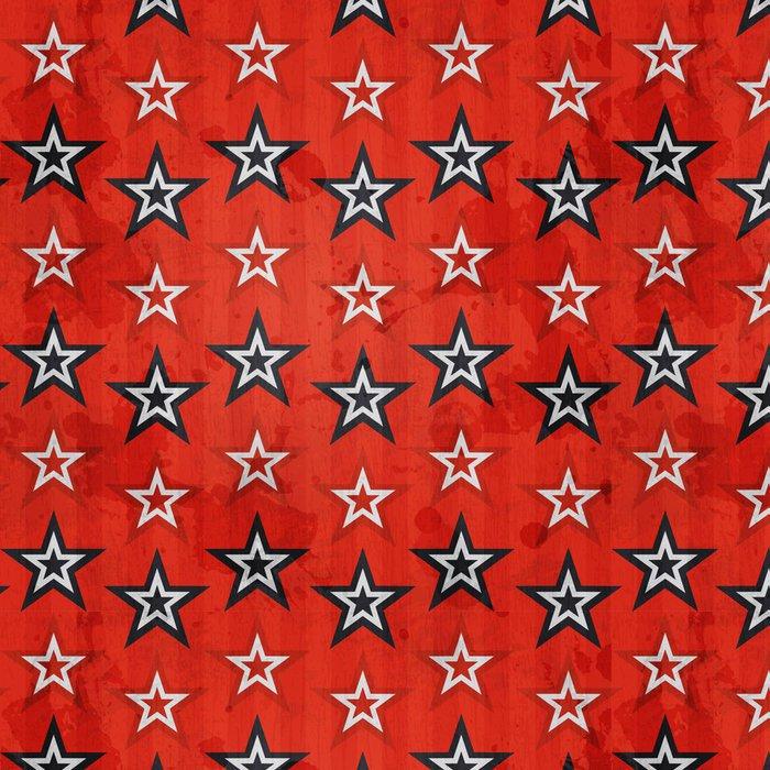 Tapeta Pixerstick Revoluce hvězdy bezešvé vzor s grunge efekt - Témata