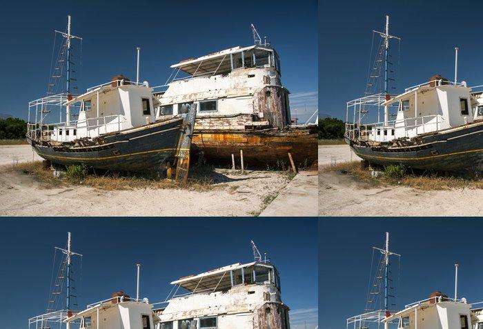 Vinylová Tapeta Rezivějící čluny na řecký loděnici - Lodě