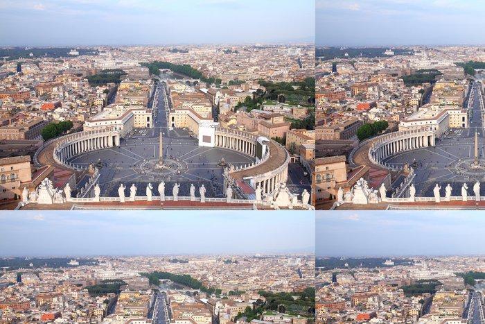 Vinylová Tapeta Řím - letecký pohled na Piazza San Pietro - Město