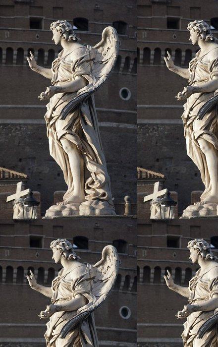 Tapeta Pixerstick Řím - Ponte Sant'Angelo, Angel s hřebíky - Evropská města