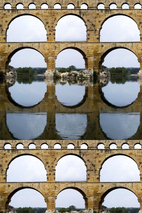 Vinylová Tapeta Římský akvadukt v Pont du Gard, Francie - Památky