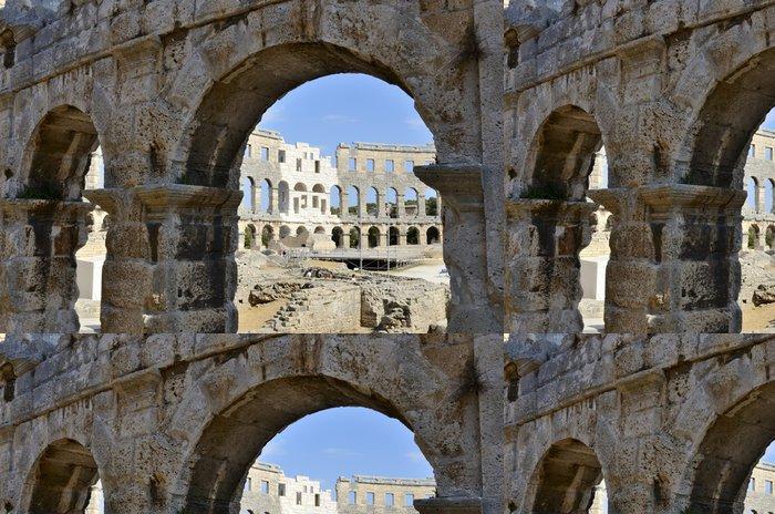 Tapeta Pixerstick Římský amfiteátr Pula (Chorvatsko) - Evropa