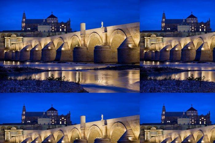 Tapeta Pixerstick Římský most a katedrála mešita v Córdobě - Památky