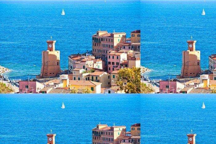 Vinylová Tapeta Rio Marina, Ostrov Elba, Itálie. - Evropa