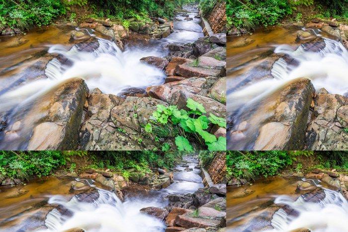 Tapeta Pixerstick Řítí horského potoka v létě - Voda
