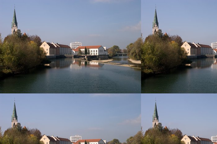 Tapeta Pixerstick River Iller - Evropa