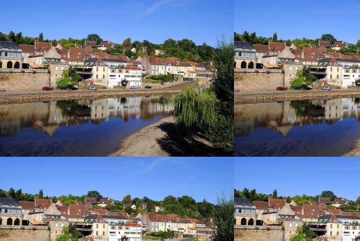 Tapeta Pixerstick River Vezere v tržní města Le Bugue, Francie - Evropa