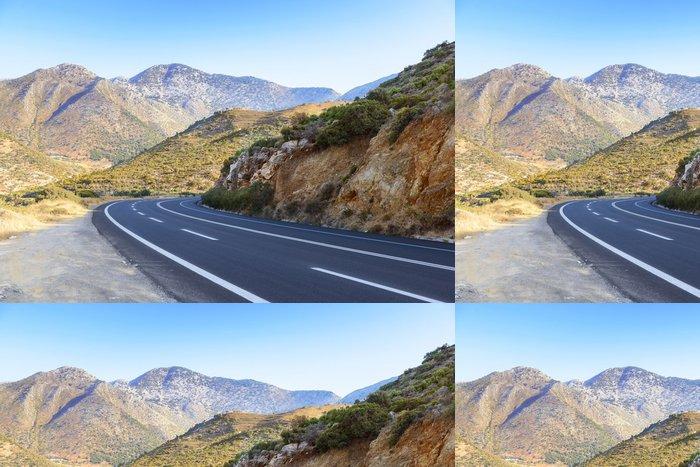 Tapeta Pixerstick Road v krétských hor. Řecko - Evropa