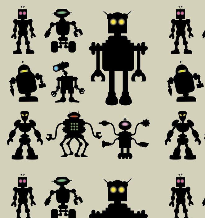 Tapeta Pixerstick Robot Siluety 1 - Osud
