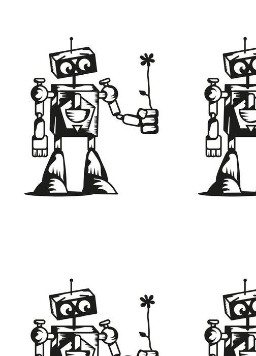 Tapeta Pixerstick Roboter mit Blume - Elektronika