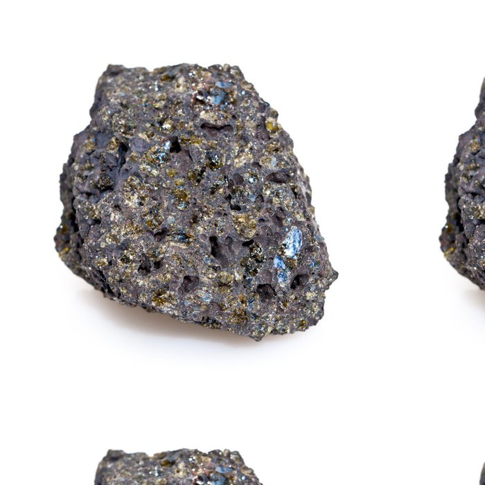 Tapeta Pixerstick Roche volcanique avec Cristaux d'olivín - Přírodní katastrofy