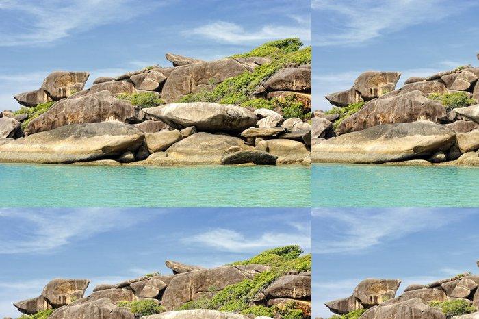 Tapeta Pixerstick Rocher de Donalda aux Iles Similan, Thaïlande - Asie