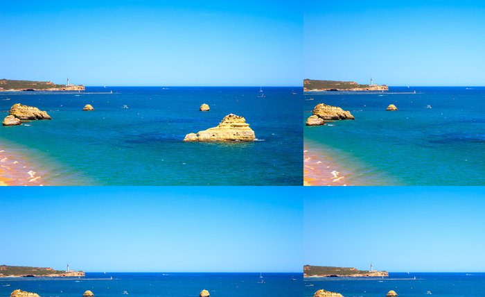 Tapeta Pixerstick Rock Beach Praia da Rocha v Portimao. Algarve. Portugalsko - Evropa