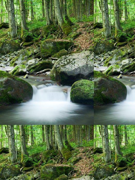 Tapeta Pixerstick Rocky Forest Stream - Voda
