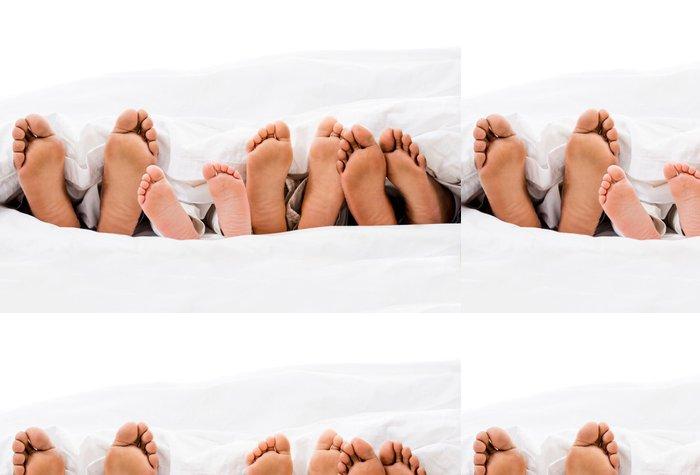 Vinylová Tapeta Rodina v posteli - Části těla