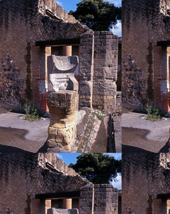 Tapeta Pixerstick Roman sluneční hodiny, Herculaneum, Itálie © Arena Photo UK - Evropa