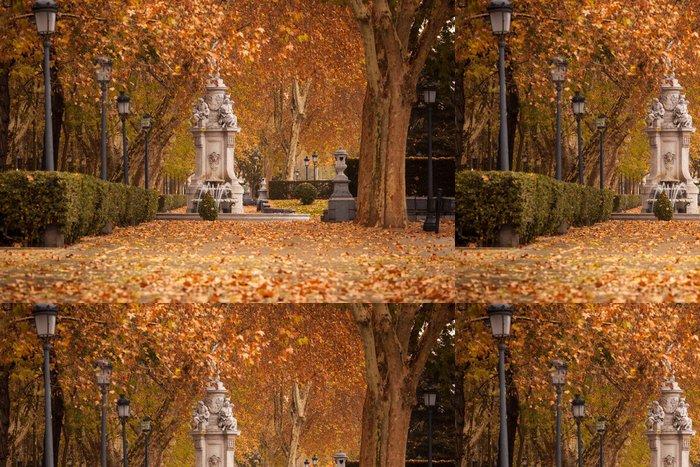 Tapeta Pixerstick Romantická krajina z centra Madridu na začátku zimy - Evropská města