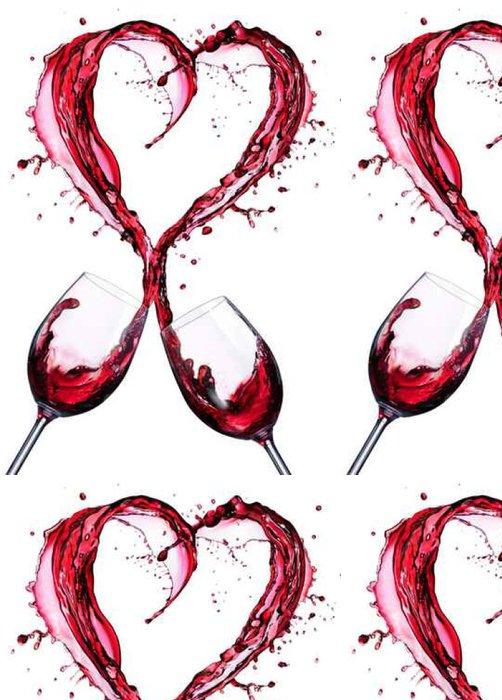 Tapeta Pixerstick Romantický Toast Of vínová V stříkající srdce Shape__ - Pití