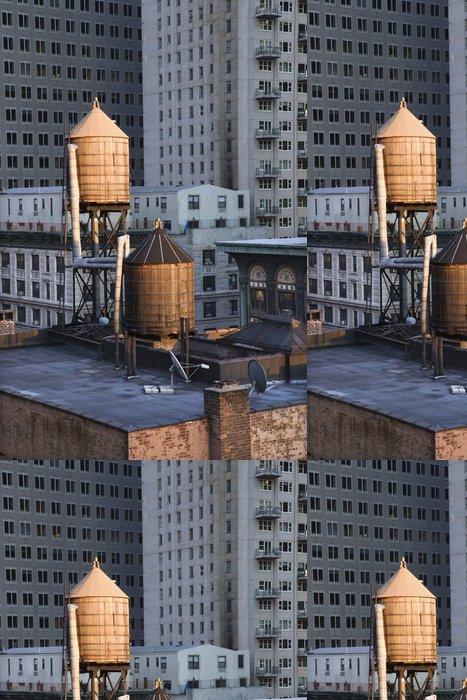 Tapeta Pixerstick Rooftop Vodní věže na NYC budov - Amerika