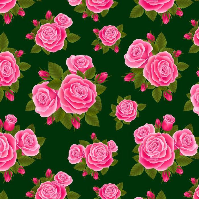 Tapeta Pixerstick Rose bezešvé - Pozadí