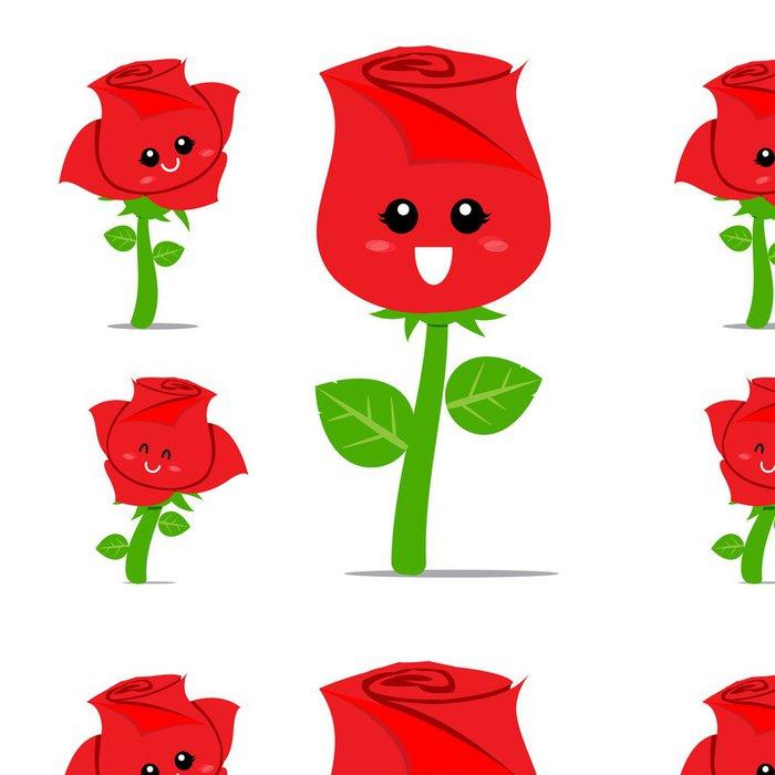 Vinylová Tapeta Rose Cartoon 001 - Květiny