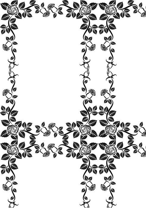 Tapeta Pixerstick Rose Frame - Značky a symboly