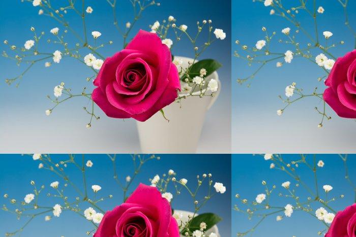 Tapeta Pixerstick Rose Red い - Květiny