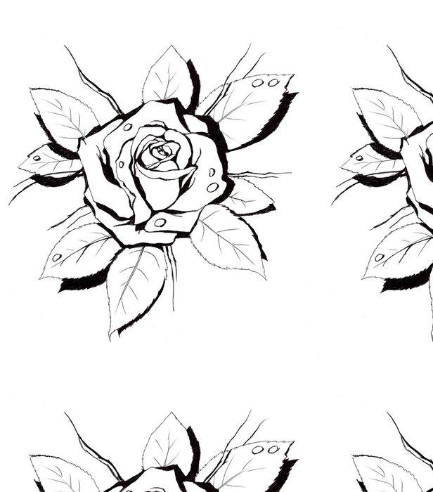 Tapeta Pixerstick Rose shape.My vlastní umělecká díla. - Umění a tvorba