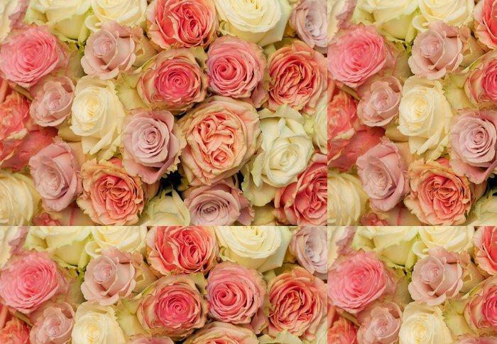 Tapeta Pixerstick Rosen von oben - Květiny