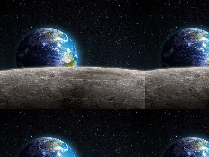 Tapeta Pixerstick Rostoucí Země vidět z Měsíce - Vesmír