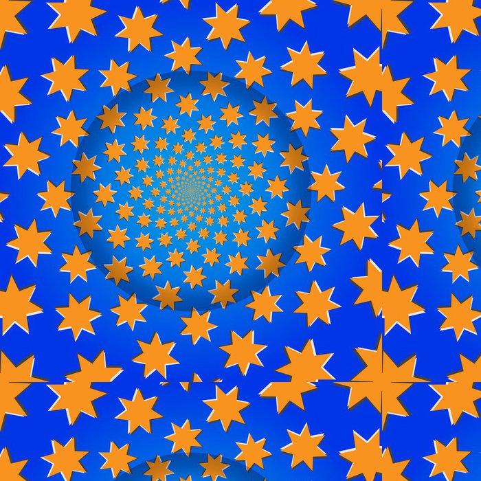 Vinylová Tapeta Rotační Hvězdy, optické iluze, vektorové ilustrace vzor Ba - Pozadí