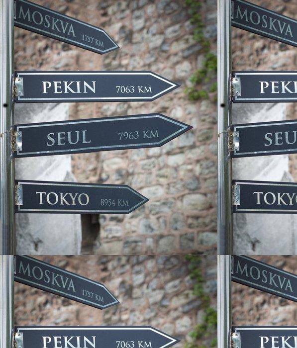 Tapeta Pixerstick Rozcestník v Istanbulu - Značky a symboly