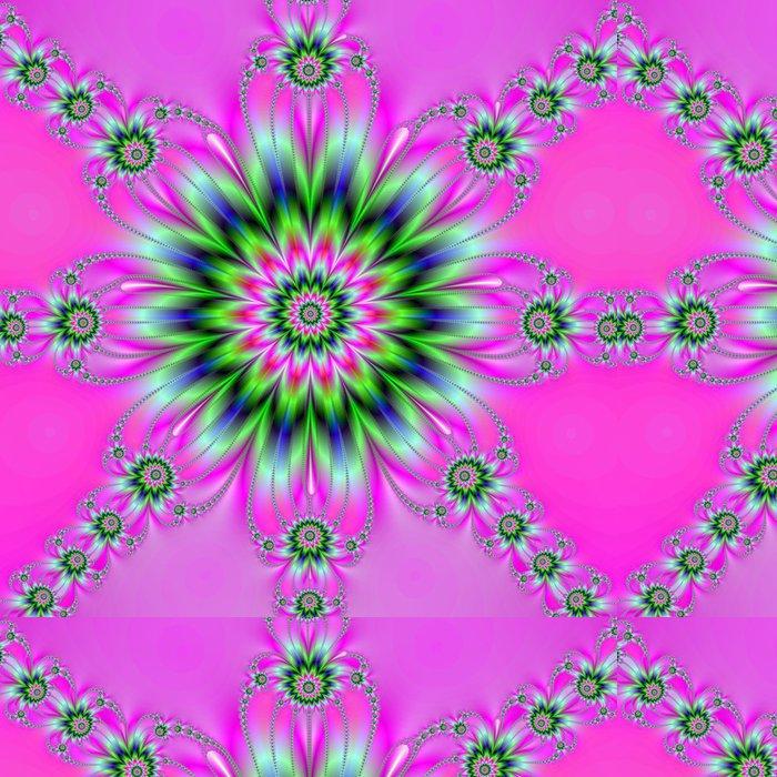 Tapeta Pixerstick Rozeta na Pink - Abstraktní