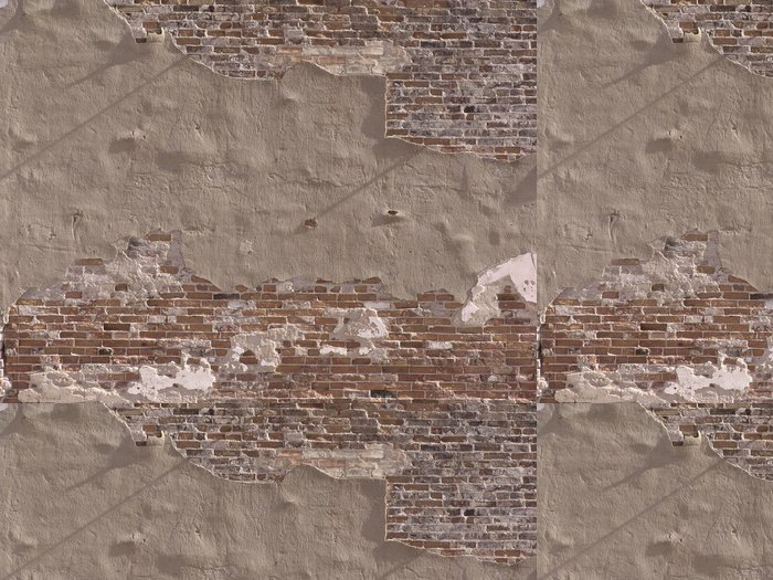 Tapeta Pixerstick Rozpadající se cihlové zdi -