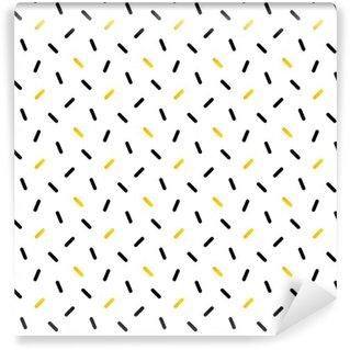 Tapeta Pixerstick Roztomilé černé a zlaté konfety, geometrické bezproblémové podtisk.