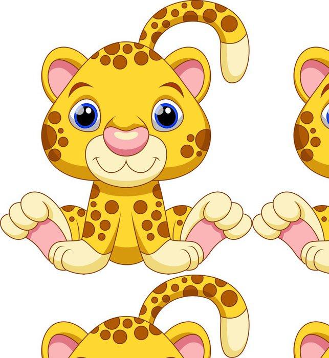 Tapeta Pixerstick Roztomilé dítě gepard karikatura - Nálepka na stěny