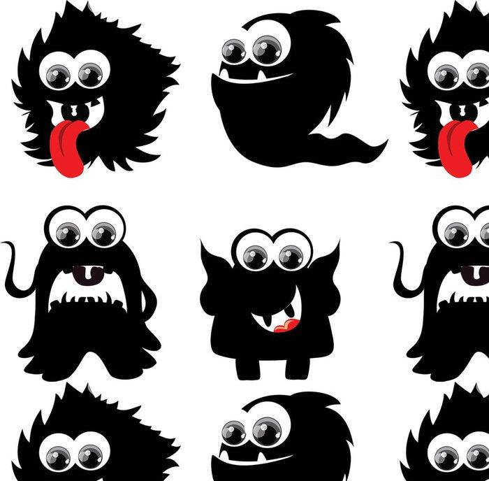 Tapeta Pixerstick Roztomilé kreslené monster - Imaginární zvířata