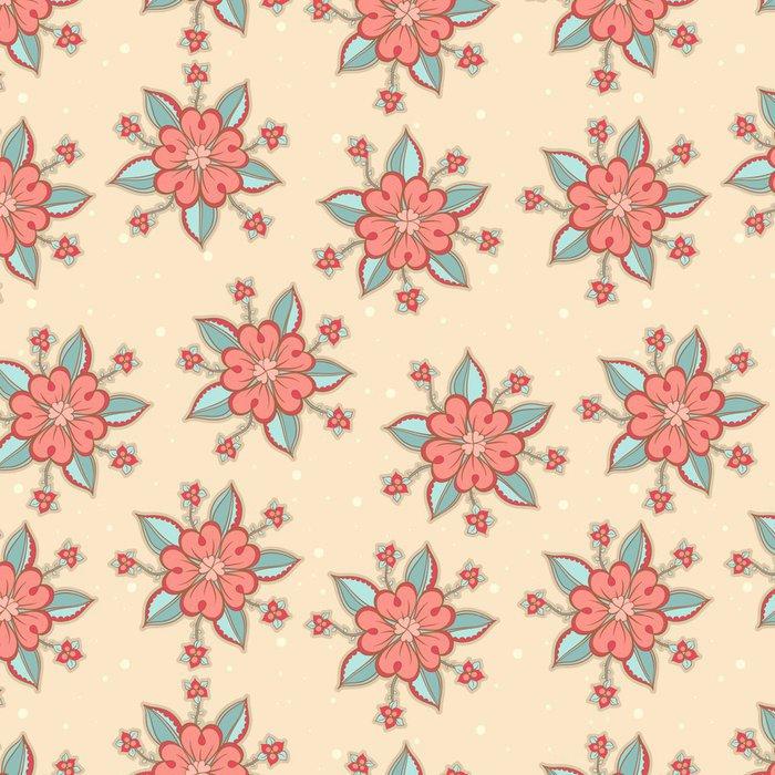Vinylová Tapeta Roztomilé růžové květy - Pozadí