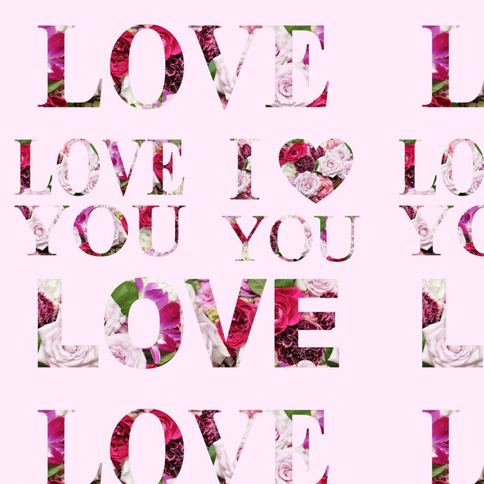 Tapeta Pixerstick Roztomilý charakter lásky lásky - Štěstí
